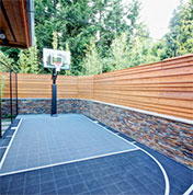 home basketball court