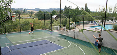 outdoor basketball floor