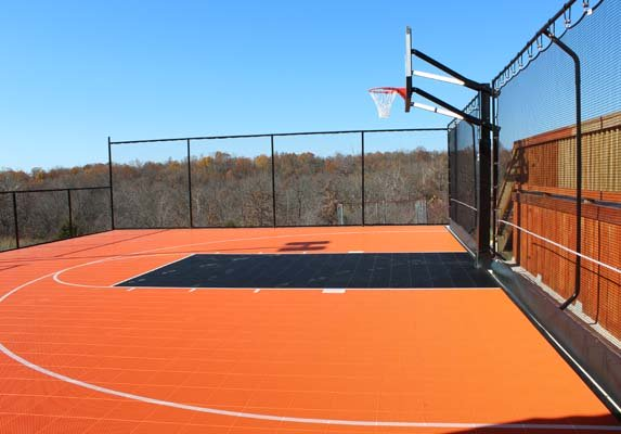 Backyard-court Basketball Outdoor Family Sport