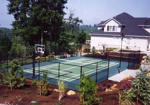 Tennis Outdoor Basketball Backyard-court Family Sport Multi-sport
