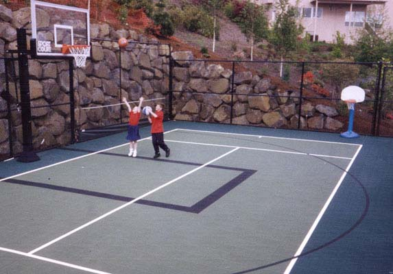 Outdoor Basketball Backyard-court Family Sport