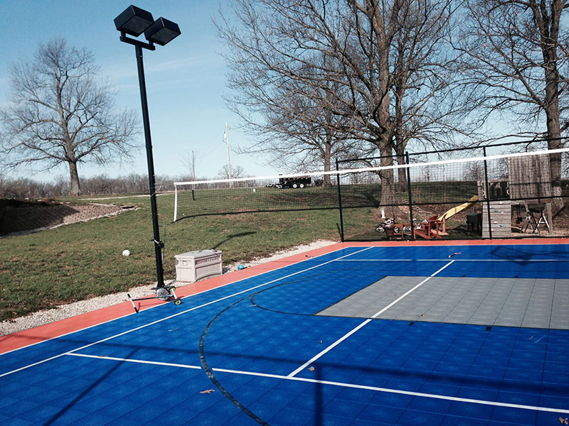 Backyard-court Family Sport Basketball Volleyball