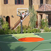 Custom Sport  Court Tiles for Home Basketball Court