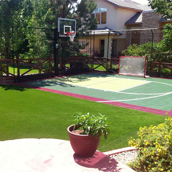 Home Basketball Court with Sport Court Hoop