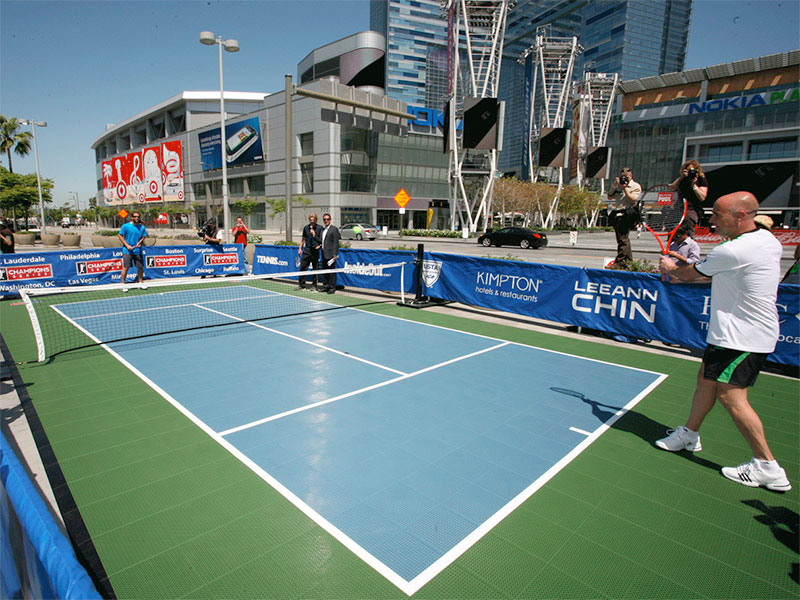 Outdoor-court Tennis Facility Sport Racquet-sports Event Outdoor