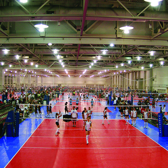 Sport Court Volleyball Court with Maple Select