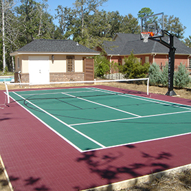 Backyard Tennis Court basketball court flooring - home basketball courts - backyard tennis