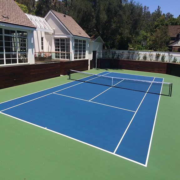 Home Tennis Court - Resilient Sport Court Surface
