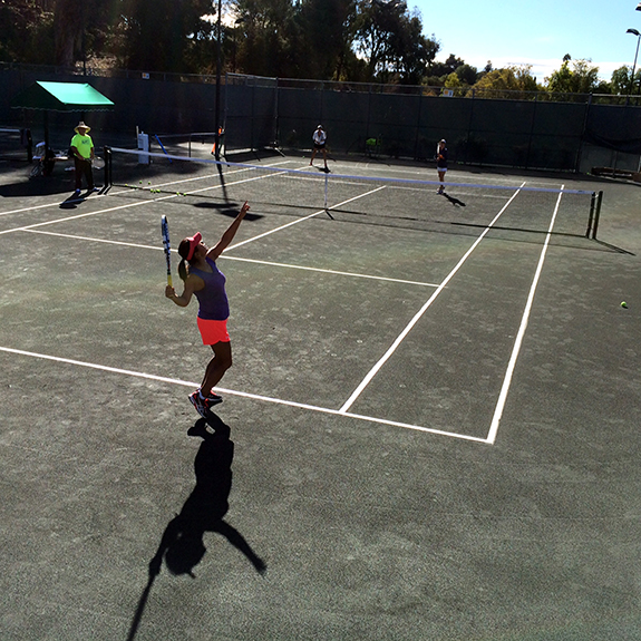Clay Tennis Court Surface by Sport Court Southern California located in Los Angeles