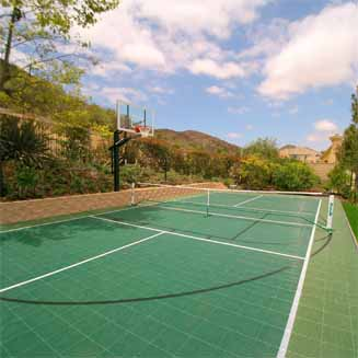 Home Basketball Court | Backyard Tennis Courts ...