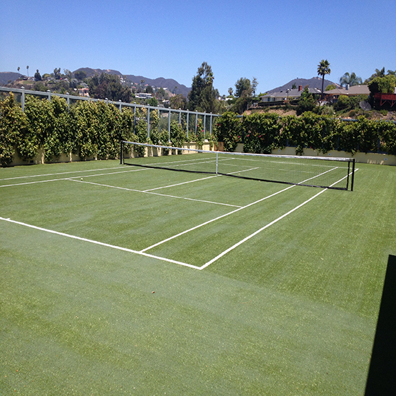 Synthetic Grass for backyard putting greens or tennis court surfaces!