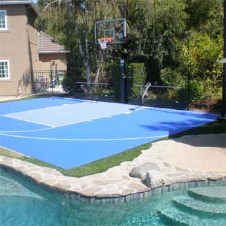 Home Basketball Court Backyard Tennis Courts