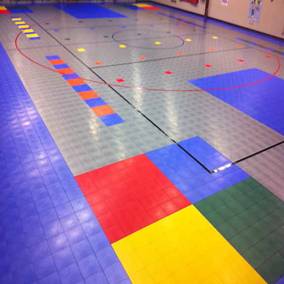 Sport Court Athletic Tiles with Defense™ Technology