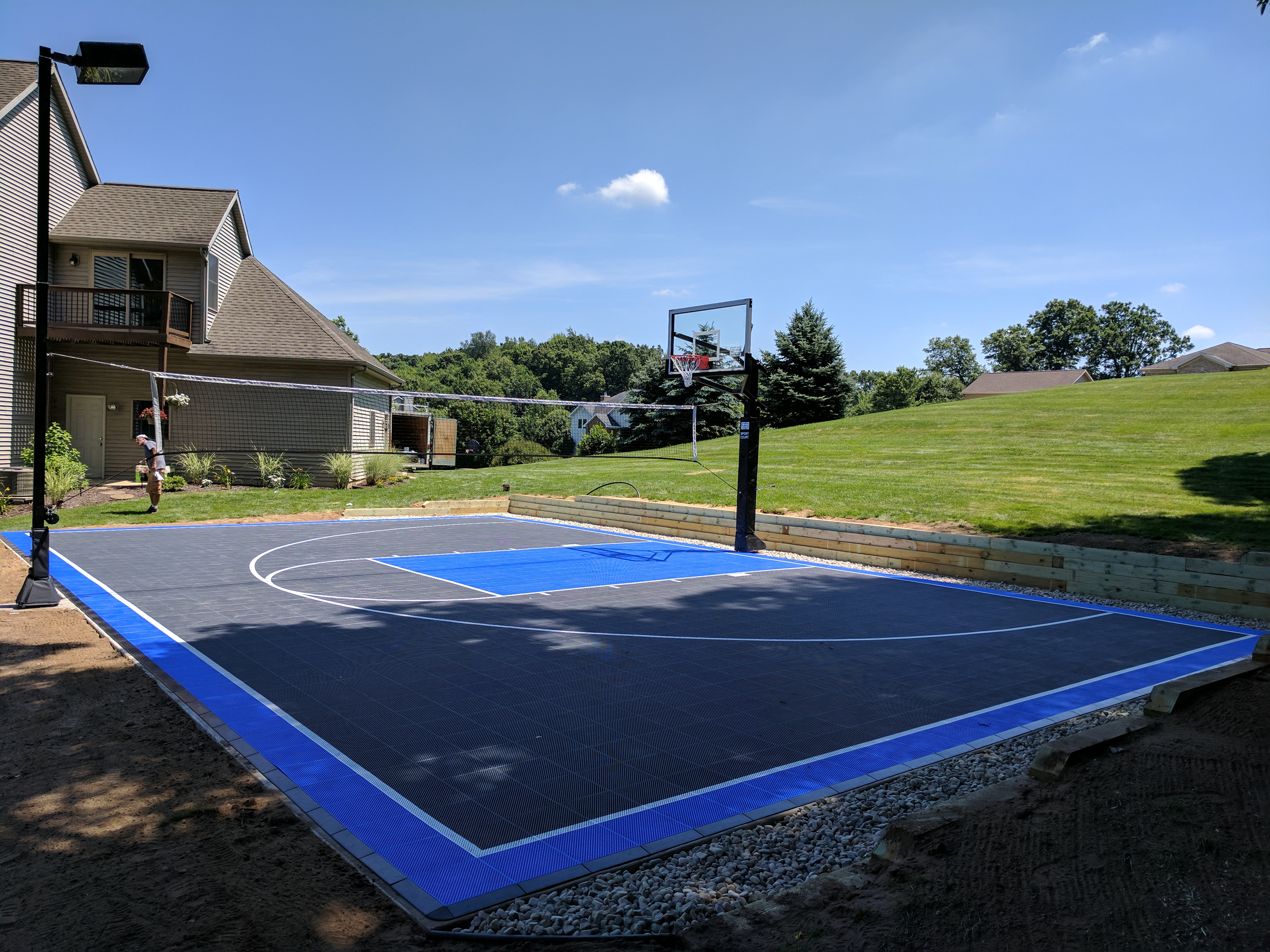 What to build in your backyard amazing luxury home design for How much does it cost to build a sport court