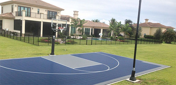 Backyard Basketball Court Home Sport Court Sport Court