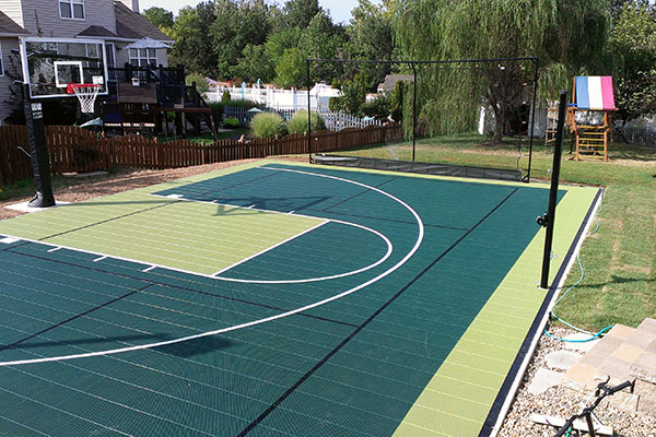 Image gallery outside basketball gym for Homemade basketball court