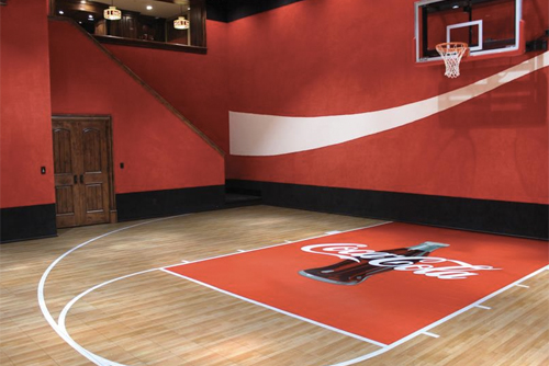 Home sport court of st louis for Custom indoor basketball court