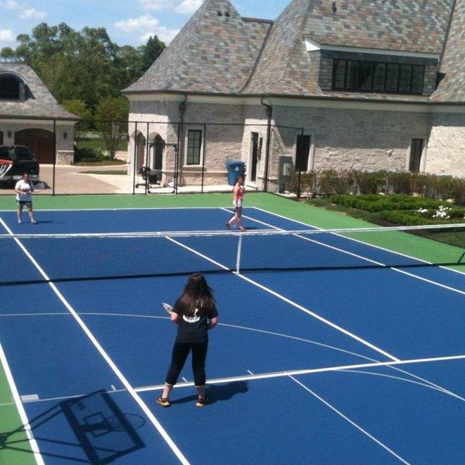 Backyard Tennis Court tennis court resurfacing - tennis court surfaces - court surface
