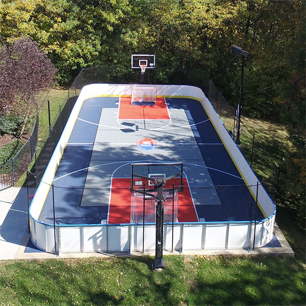 Bluehockeyjpg - Backyard roller hockey rink