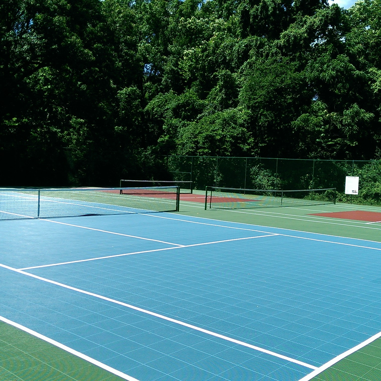 Backyard tennis courts 28 images triyae com how to for How to build a sport court