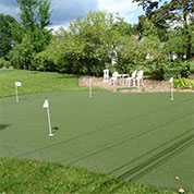 backyard home putting green