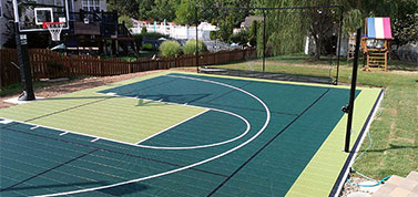 backyard half court home basketball court