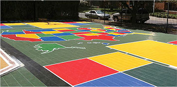 customized outdoor Sport Court surface