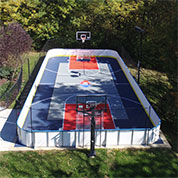 ... Outdoor Roller Hockey Rink In Family Backyard ...