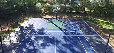 backyard home basketball court