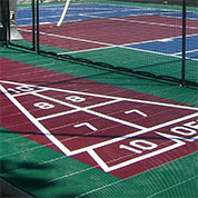 shuffleboard on outdoor Sport Court surface