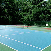 outdoor tennis courts with Sport Court surfaces