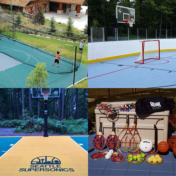 batting cages, fun packs, custom logos, hockey boards