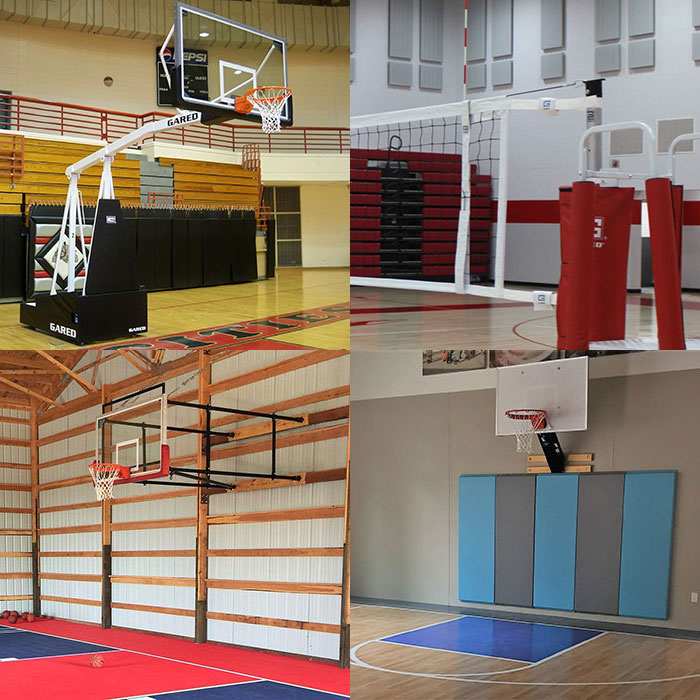 wall mounted and portable hoops