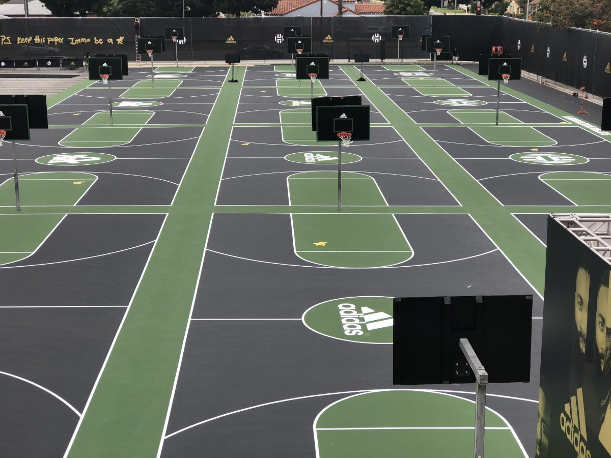 In-Ground Fixed Outdoor School Courts