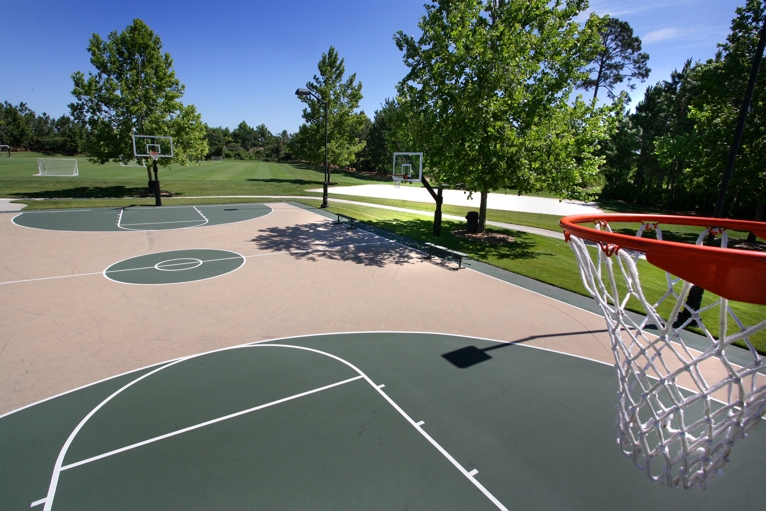 Outdoor Commercial Adjustable Hoops System