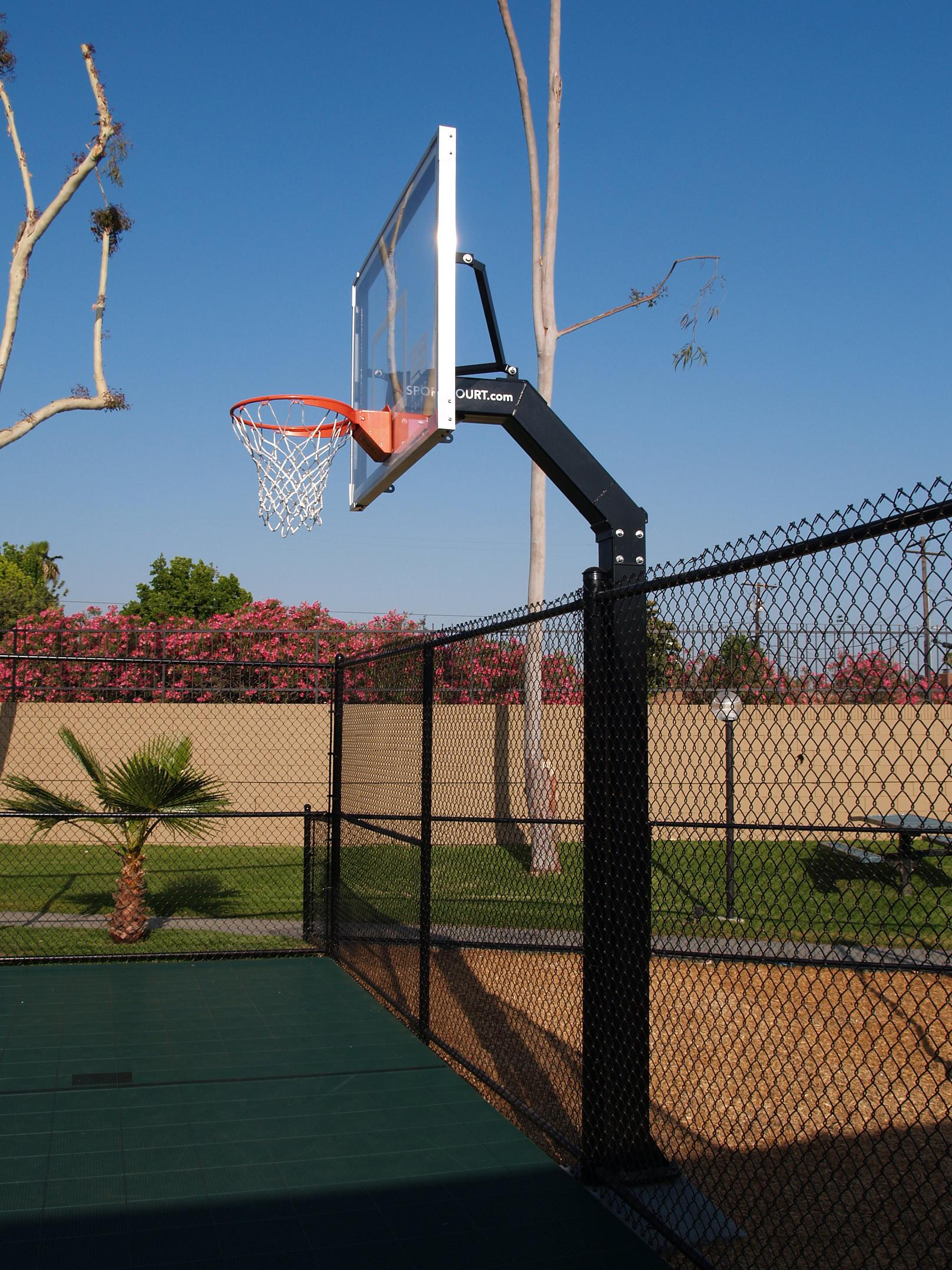 Playground Basketball Hoop at School