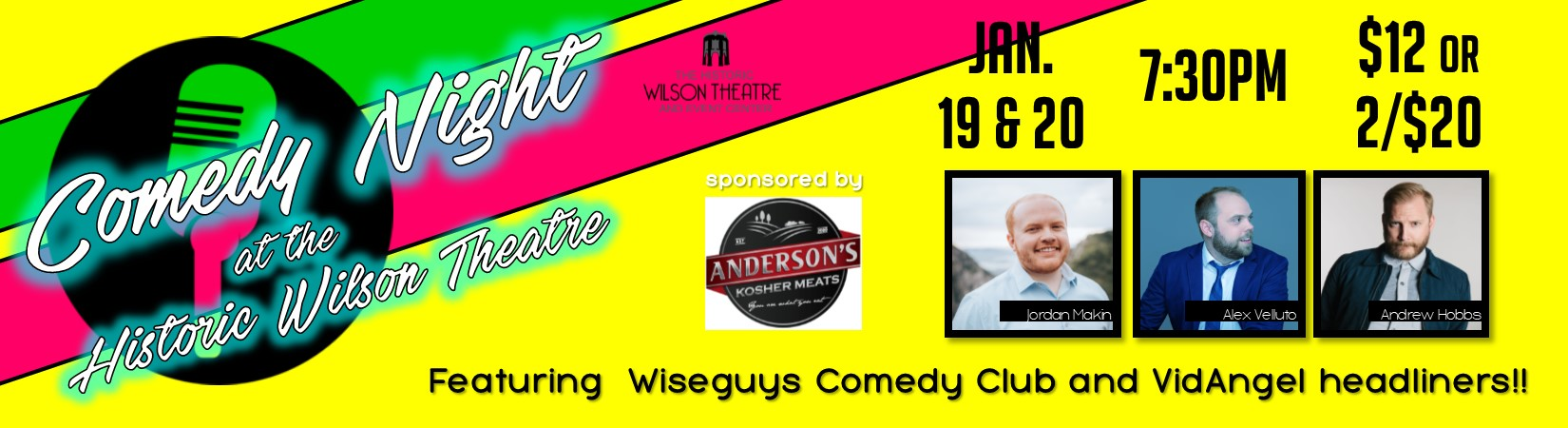 Comedy Night at the Historic Wilson Theatre!