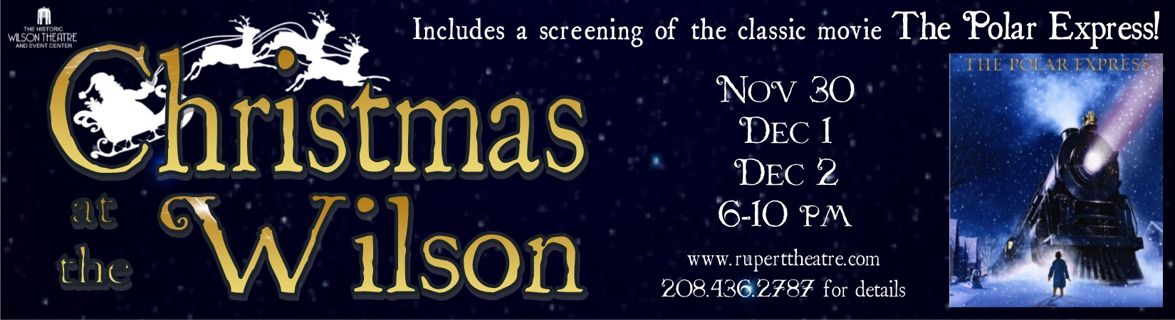 Nov 30, Dec 1-2 Christmas at the Wilson featuring a screening of