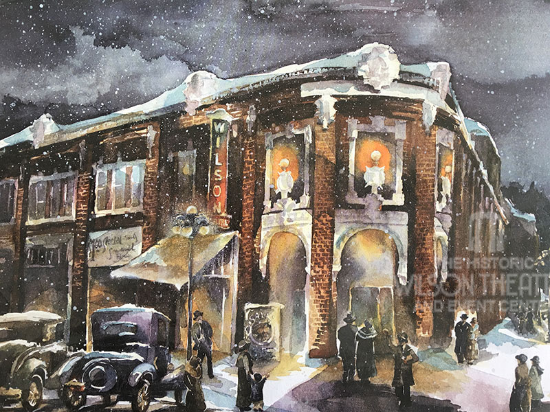Wilson Theatre at Christmas Print