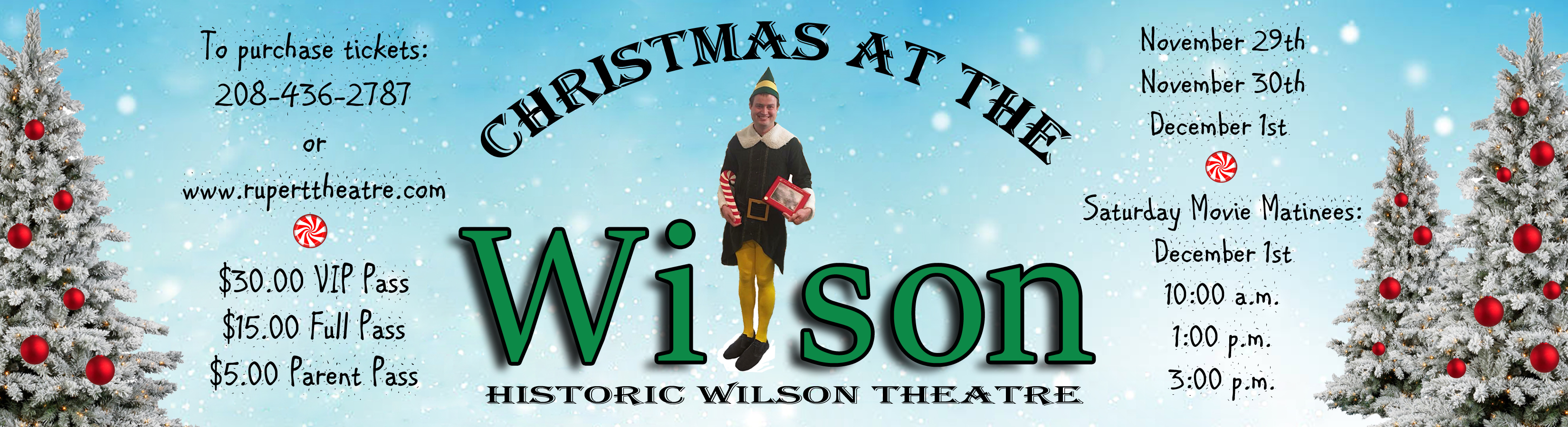 Christmas at the Wilson featuring the movie Elf!