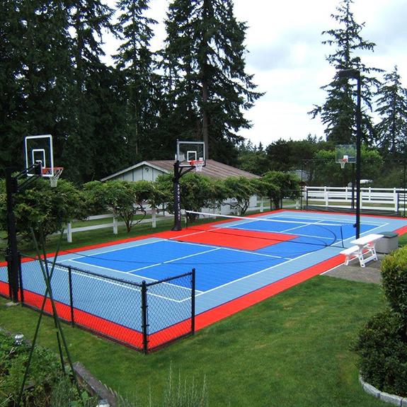 Backyard Tennis Court Setup For Multiple Sports