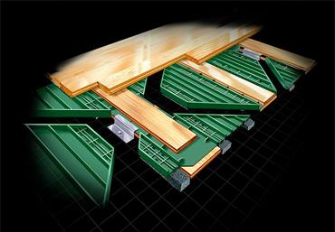 Greenplay hardwood arena flooring by Connor Sports