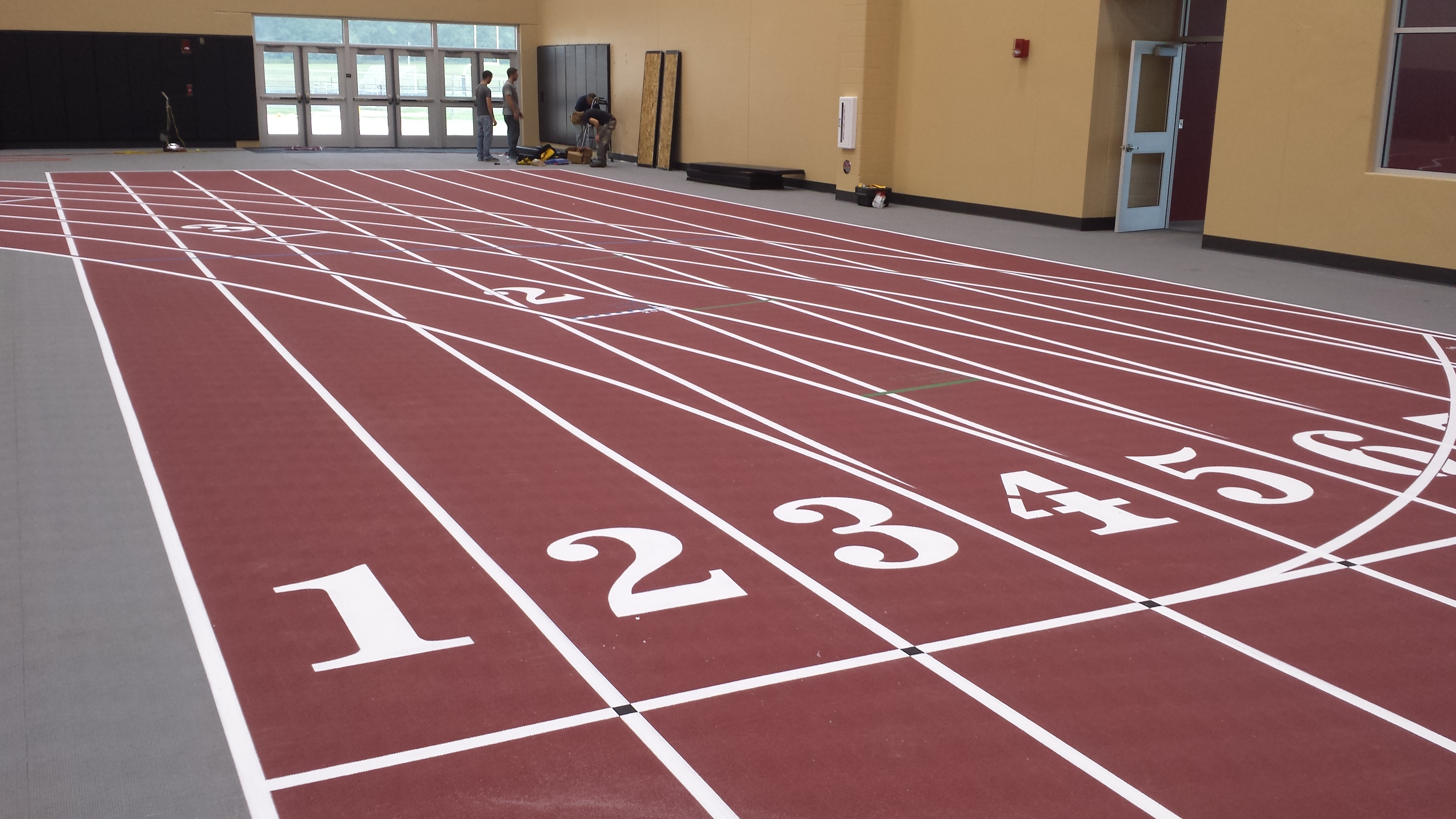 High School Running Track by Connor Sports Traction Systems
