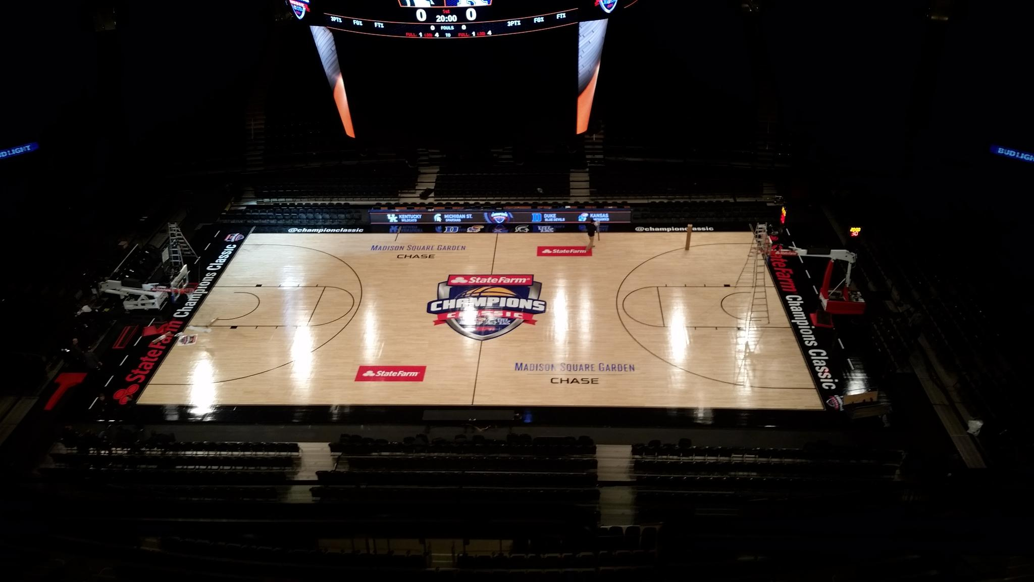 Champions of Sport: Connor Sports Provides Basketball Court for the 2016 State Farm Champions Classic