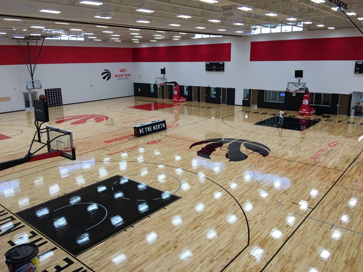 Champions of sport toronto raptors build new practice for Build a basketball court