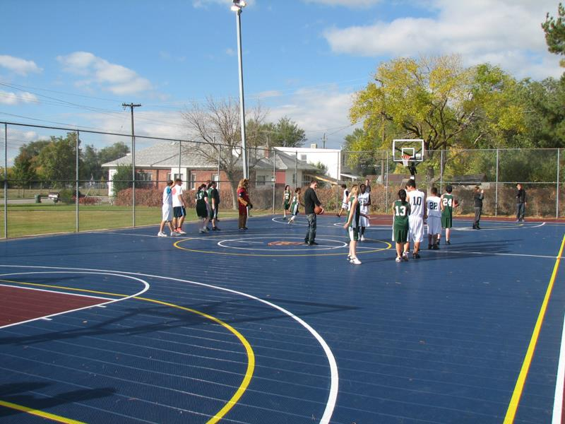 Outdoor-court Basketball Facility Sport Outdoor Parks-Rec