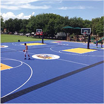 Outdoor Sport Facility Basketball Court Flooring