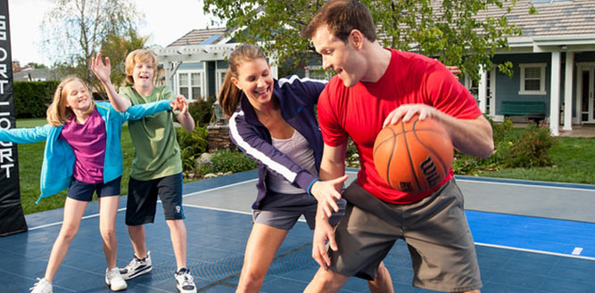 Home Backyard Outdoor Basketball Court Flooring Tiles