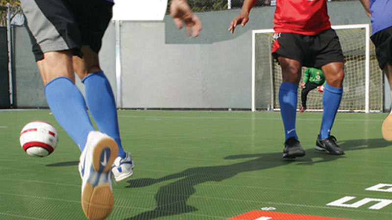 Inddor Soccer with Sport Court Gym Flooring