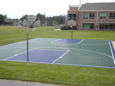 Outdoor Commercial Basketball Court Builder and Accessories